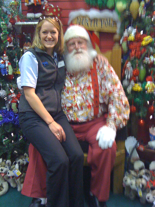 Santa, in Happier Times