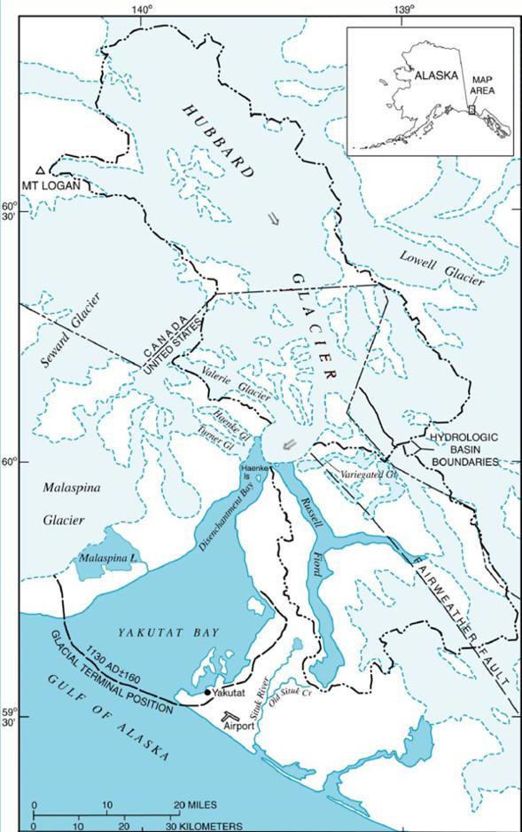 Hubbard Glacier and Vicinity
