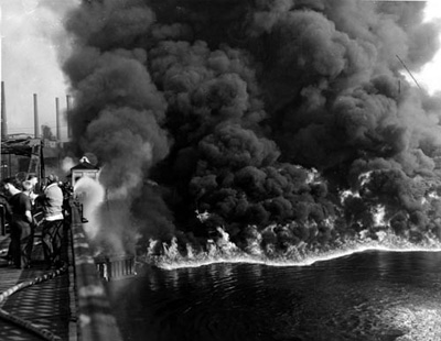 Cuyahoga River on Fire, 1952