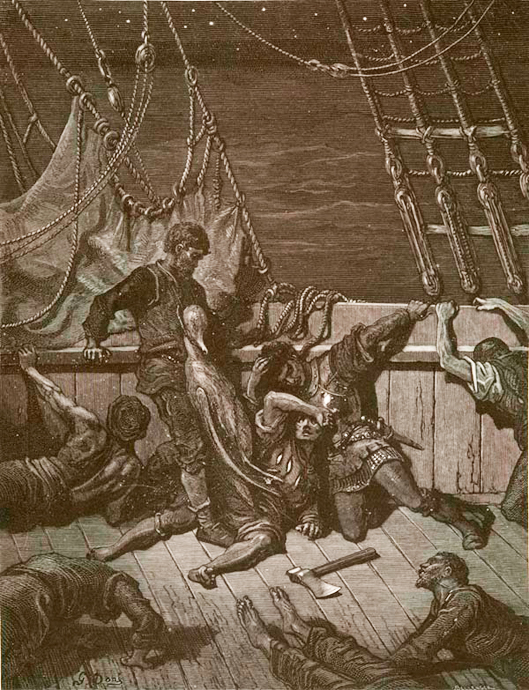 Gutav Dore, Illustration to Rime of the Ancient Mariner