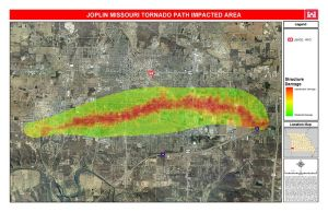 May 2011 Path of Tornado Through Joplin