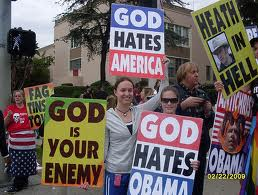 God and Hate - Westboro Baptist Church members picket outside the Oscars (Photo by SnapShot Boy, used with permission)