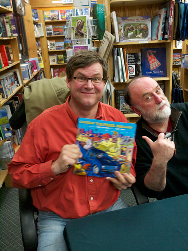 Dr. Kirk Johnson and Ray Troll at Gulliver's Books