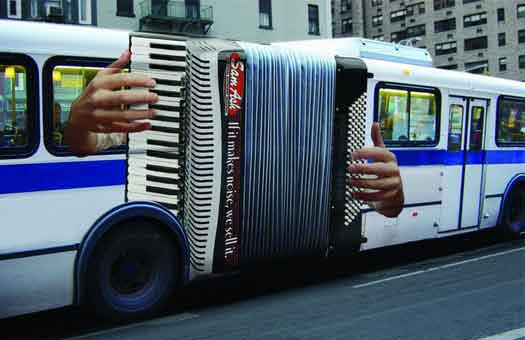 Sam Ash Music Accordion Bus