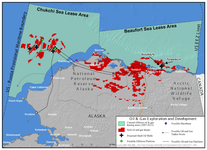 Proposed Shell Offshore Wells