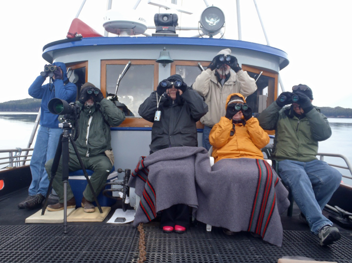Birding on the Auklet, Photo by Cap. David Janka