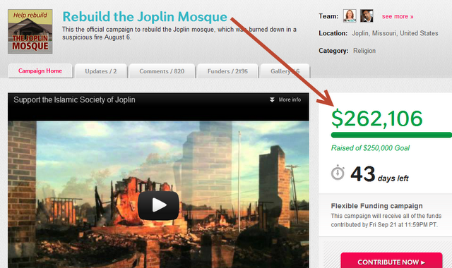 Joplin Mosque Fundraising Effort