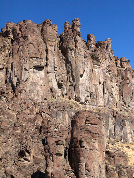 Eroded Basalt Columns, Salmon Falls Creek Canyon