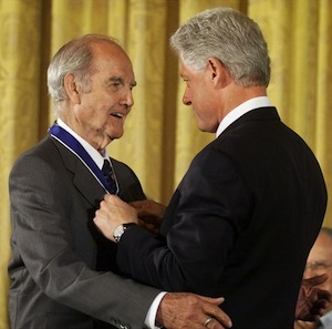 President Bill Clinton awards the Presidential Medal of Freedom to McGovern at the White House. (Pablo Martinez Monsivais/AP)