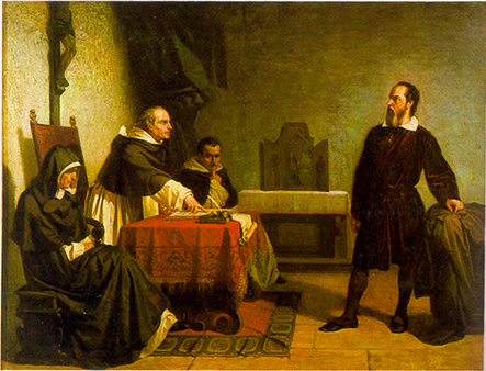 Galileo Facing the Roman Inquisition, Cristiano Banti, 1857