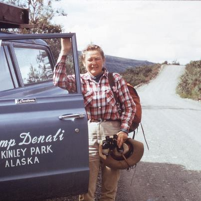 Ginny Wood with a Camp Denali Truck