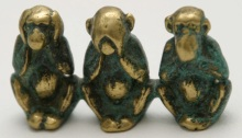 Three Wise Monkeys, Brass Casting