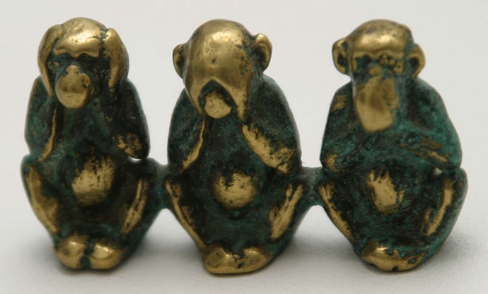 Three Wise Monkeys, Brass Casting