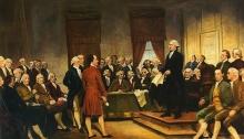 Signing the U.S. Constitution