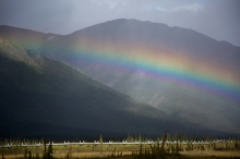 Rainbow and Pipeline, Dietrich River Valley, Brooks Range