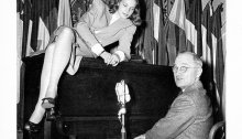 Lauren Bacall Camping with President Harry Truman, 1945