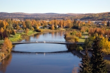 Fairbanks Autumn 2014, Looking Northeast Upriver