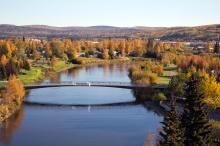 Fairbanks Autumn 2014, Looking Northeast Upriver