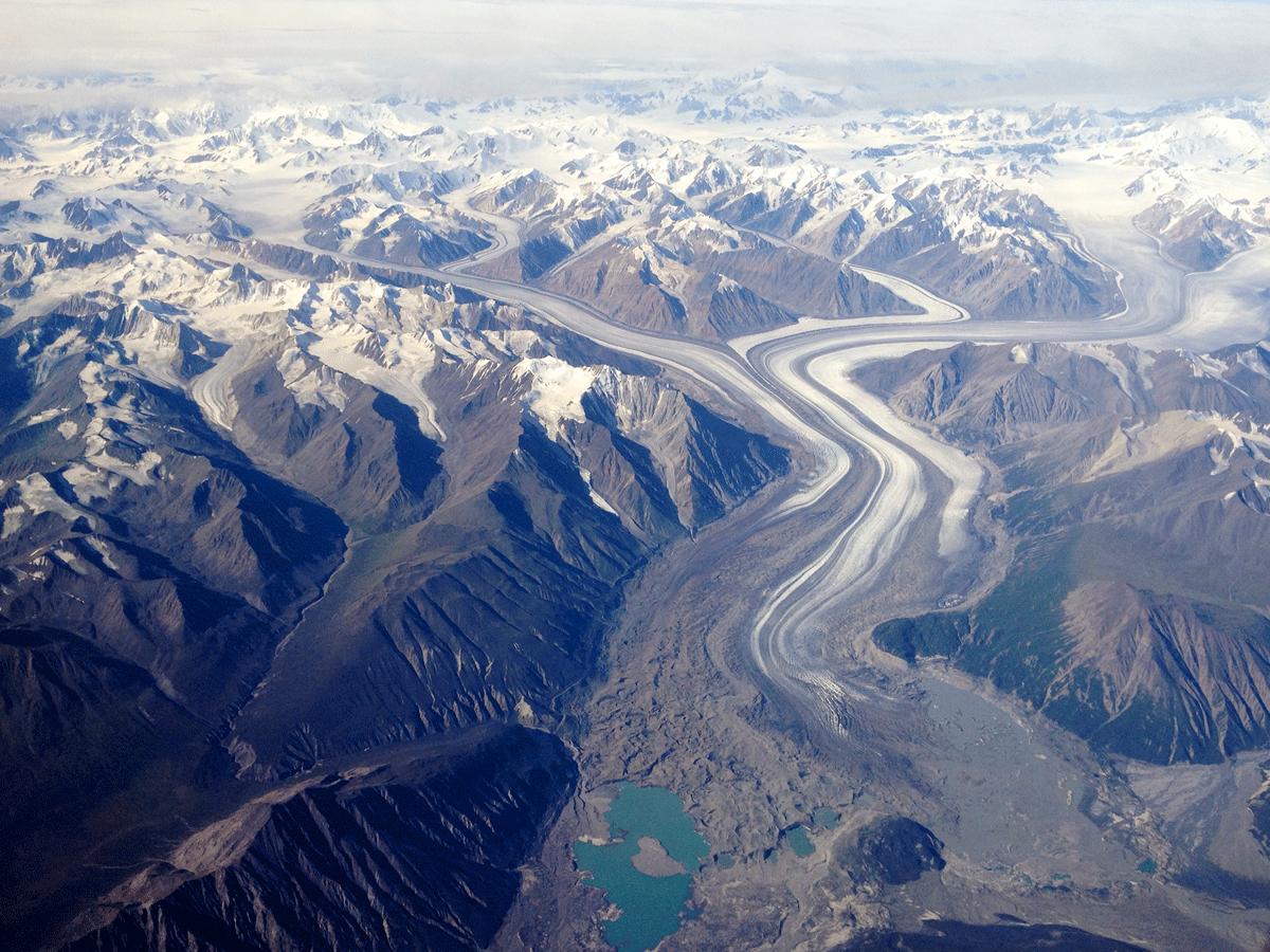 Klutwan Glacier From 30000 Feet