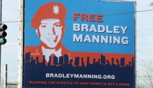 Billboard erected in Washington, D.C., by the Private Manning Support Network, via Wikipedia Commons