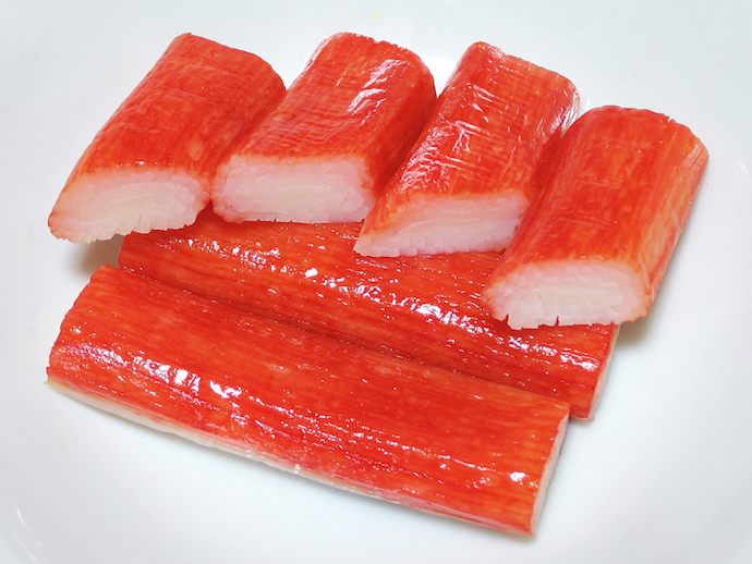 Imitation Crab Meat Made from Surimi, Photo Via Wikicommons