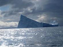 Iceberg Grounded Off Antarctic Peninsula, December 2011
