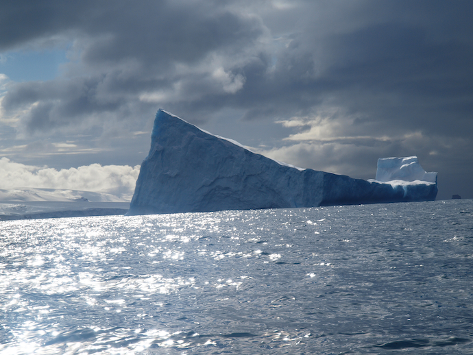 Iceberg Grounded Off Antarctic Peninsula, December 2011