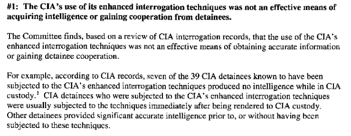 Senate Committee Study of the Effectiveness of the CIA's Detention and Interrogation Program, page 2