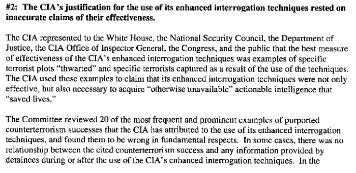 Senate Committee Study of the Effectiveness of the CIA's Detention and Interrogation Program, page 3