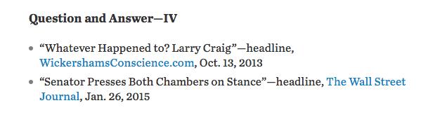 Screen shot from James Taranto column, Wall Street Journal, January 25, 2015