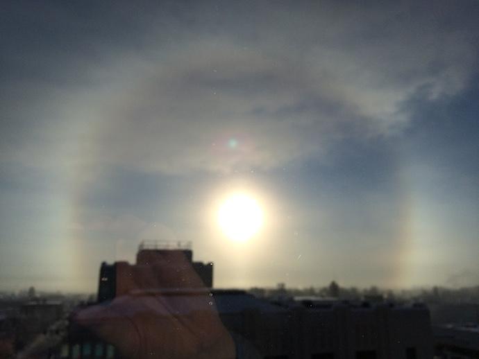 22° Sun Halo, Fairbanks, Alaska