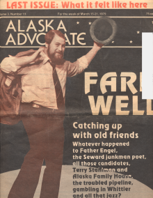 Alaska Advocate's final issue, featuring a very young Howard Weaver on the over