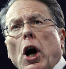 Alleged human being Wayne LaPierre, paid $1 million a year to lie through his teeth