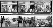 Proof Sheet, French Pete Creek Demonstration, April 1971