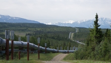 Trans-Alaska Pipeline, Black Rapids Canyon