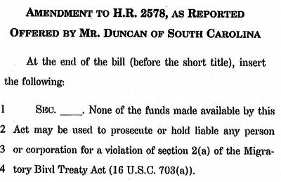 Rep. Duncan's Rider to the USDOJ Appropriations Bill