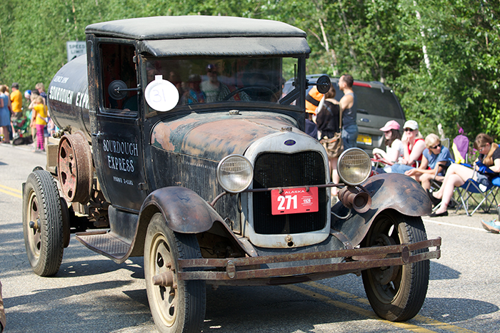 Antique cars are another mandatory feature of small town parades