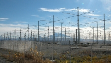 Photo by Michael Kleiman, US Air Force - http://science.dodlive.mil/2010/02/23/haarps-antenna-array-the-kitchen-in-the-sky/ via Wikipedia Commons