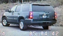 The missing blue Chevy Tahoe