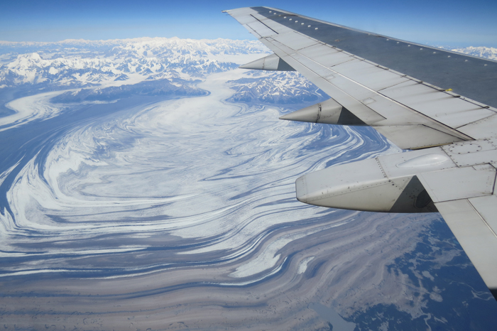 Malaspina Glacier from 30,000 Feet