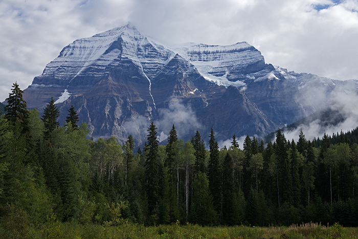 Mount Robson, from Mount Robson Provincial Park Visitor Center, British Columbia