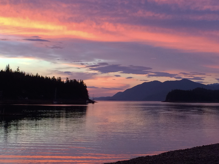 Twilight, Tee Bay, North of Juneau