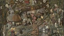 The Fairy Feller's Master-Stroke 1855-64 Richard Dadd 1817-1886 Presented to the Tate Museum by Siegfried Sassoon in memory of his friend and fellow officer Julian Dadd, a great-nephew of the artist, and of his two brothers who gave their lives in the First World War
