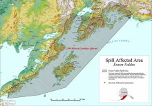 exxon Valdez Spill Map, via University of Alaska