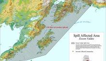 exxon Valdez Spill Map, via University of Alaska