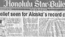 The ideal newspaper headline to read on your lanai in Maui