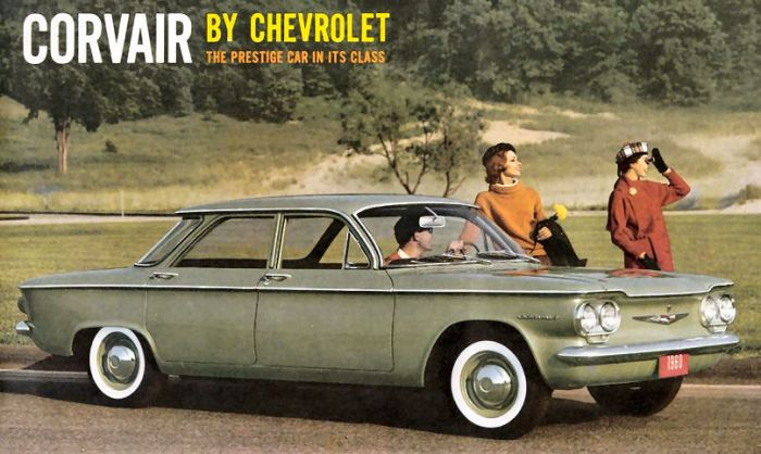 No, the DeWitt Corvair didn't have white-walls, or posed models