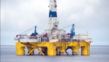 Shell Oil Drilling Platform Polar Pioneer in the Chukchi Sea. Photo by Shell Oil Co.