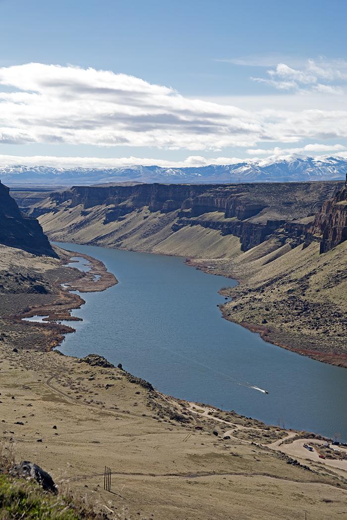 Snake River Canyon, Upstream at Swan Falls Reservoir