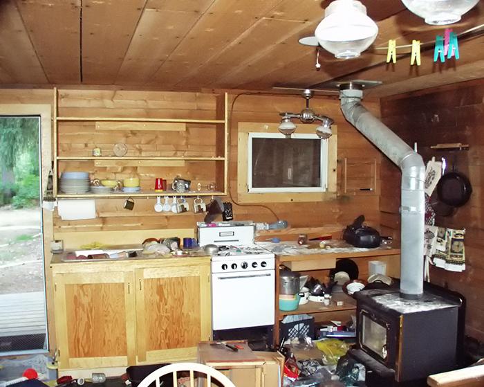 Kitchen Shelves Carefully Emptied